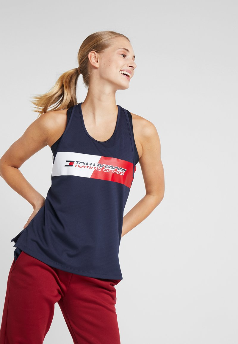 Tommy Sport - GRAPHIC FLAG TANK  - Top - blue