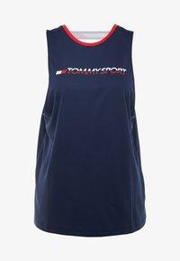 Tommy Sport - OPEN BACK TAPE TANK  - T-shirt de sport - blue - 4