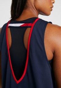 Tommy Sport - OPEN BACK TAPE TANK  - T-shirt de sport - blue - 5