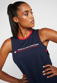 Tommy Sport - OPEN BACK TAPE TANK  - T-shirt de sport - blue - 3