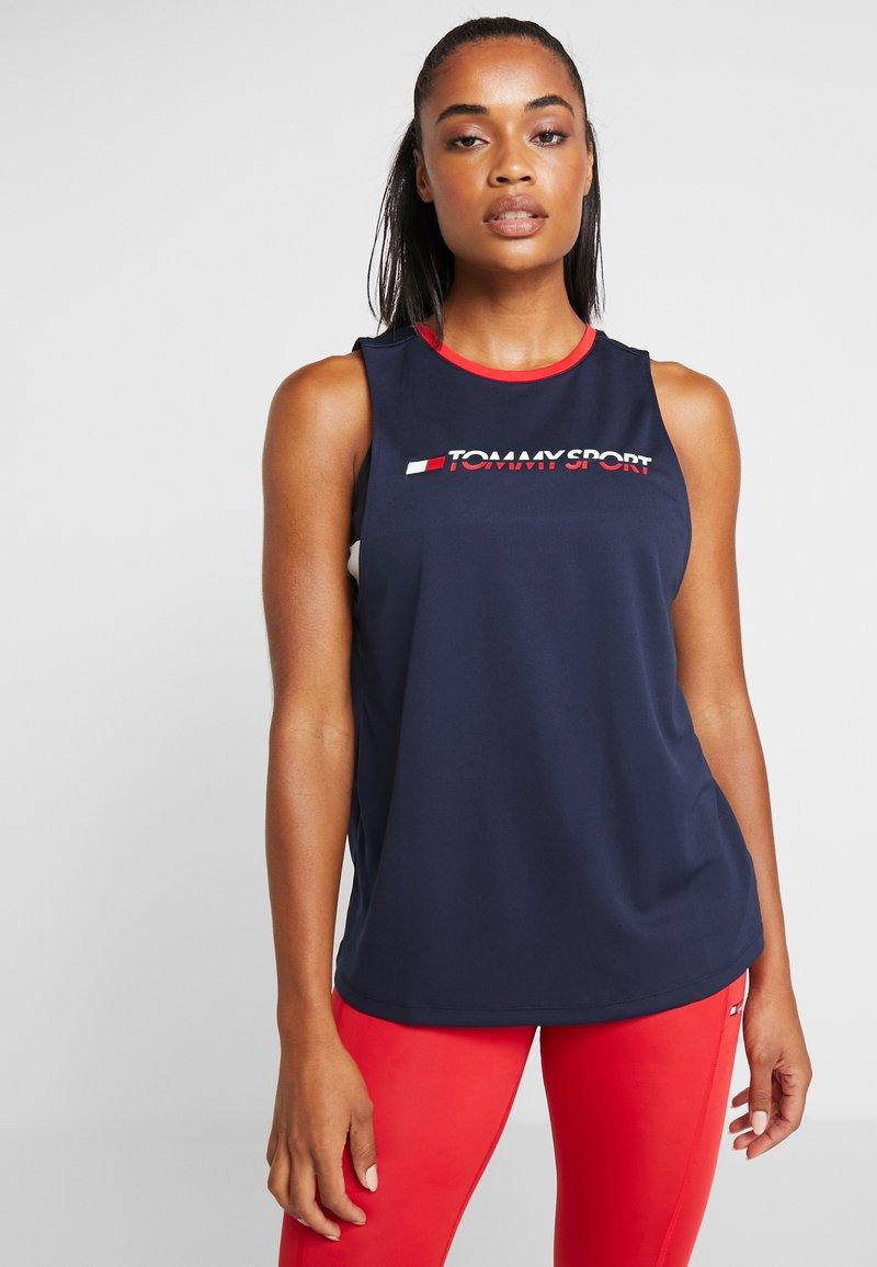 Tommy Sport - OPEN BACK TAPE TANK  - T-shirt de sport - blue