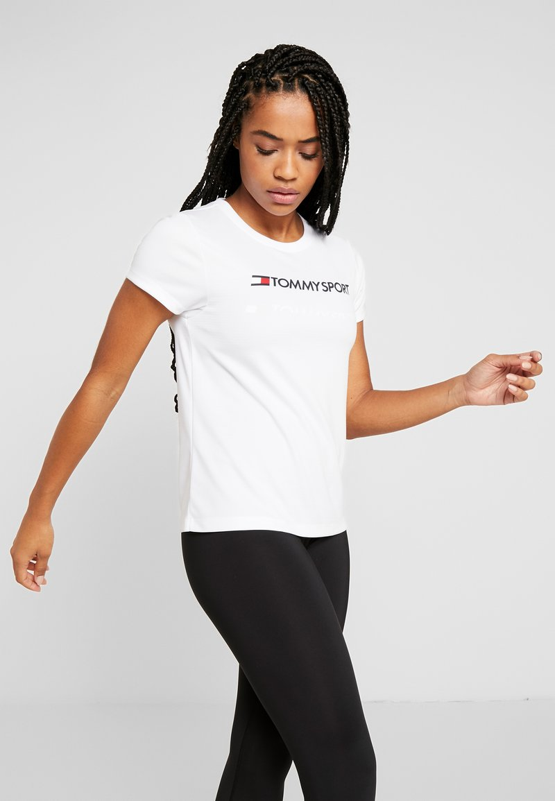 Tommy Sport - TEE CHEST LOGO - T-shirt imprimé - white