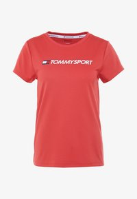 Tommy Sport - TEE CHEST LOGO - Printtipaita - red - 4