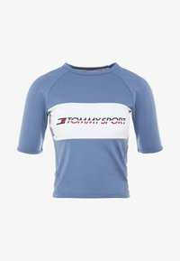 Tommy Sport - TIGHT TEE - Printtipaita - blue - 3