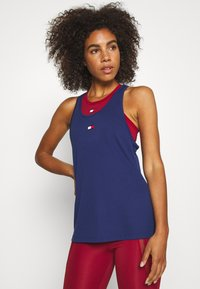 Tommy Sport - PERFORMANCE TANK TOP - Sports shirt - blue - 0
