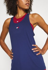 Tommy Sport - PERFORMANCE TANK TOP - Sports shirt - blue - 3
