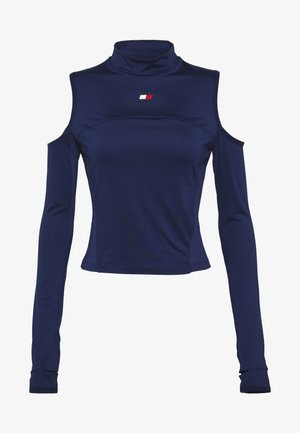 OPEN SHOULDER BASELAYER - Langarmshirt - blue