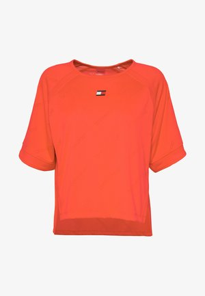 PERFORMANCE BOXY - Print T-shirt - orange