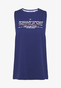 Tommy Sport - PRINTED TANK - Koszulka sportowa - blue - 4