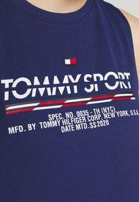 Tommy Sport - PRINTED TANK - Koszulka sportowa - blue - 5