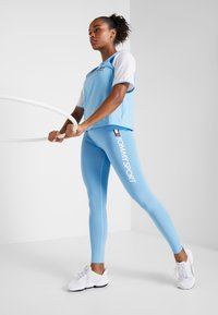 Tommy Sport - HIGHWAIST LEGGING LOGO - Tights - blue - 1