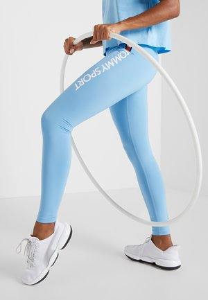 HIGHWAIST LEGGING LOGO - Legging - blue