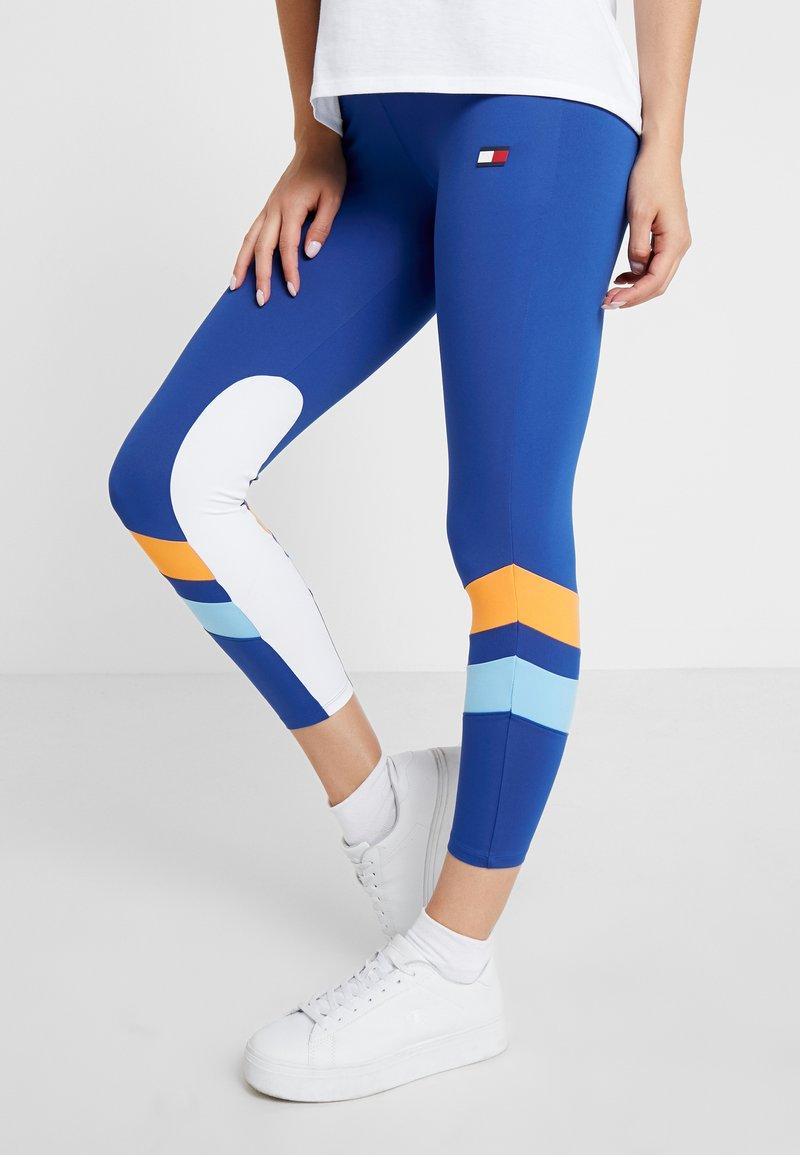 Tommy Sport - PANEL BLOCK LEGGING 7/8 - Leggings - blue