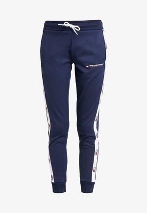 FLAG TAPE JOGGER - Pantalones deportivos - blue