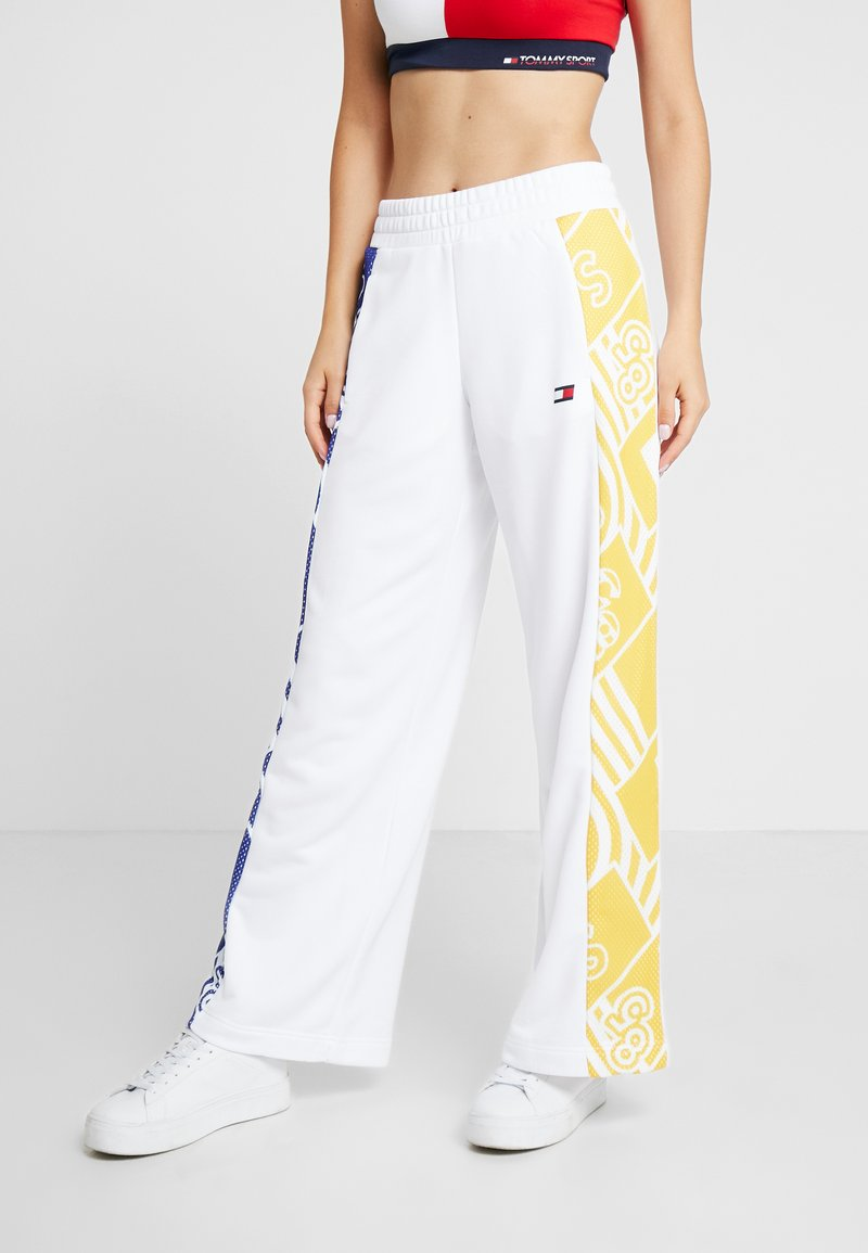 Tommy Sport - GRAPHIC CULOTTE PANTS - Tracksuit bottoms - white