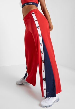 FLAG TAPE PANT FLARE - Tracksuit bottoms - red