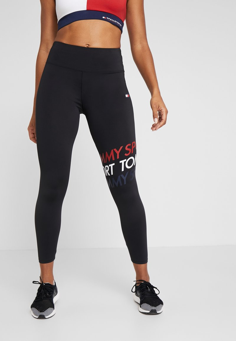 Tommy Sport - GRAPHIC LEGGING - Collants - black