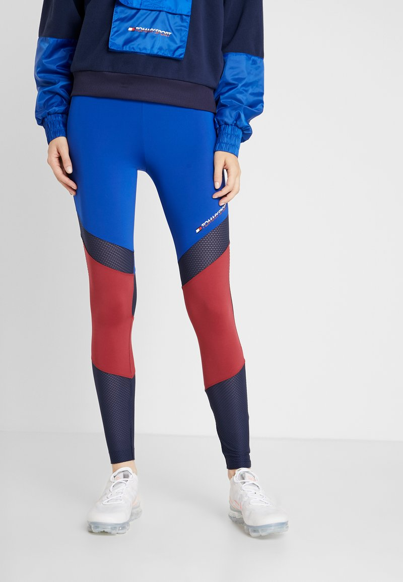 Tommy Sport - BLOCKED FULL LENGTH - Collants - blue