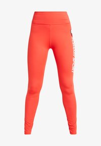 Tommy Sport - LEGGING HIGHWAIST LOGO - Punčochy - red - 4