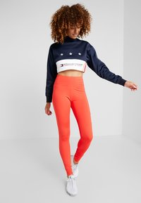 Tommy Sport - LEGGING HIGHWAIST LOGO - Punčochy - red