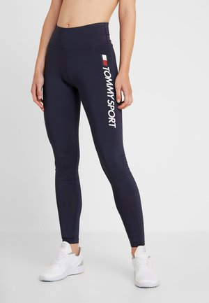 LEGGING HIGHWAIST LOGO - Medias - blue