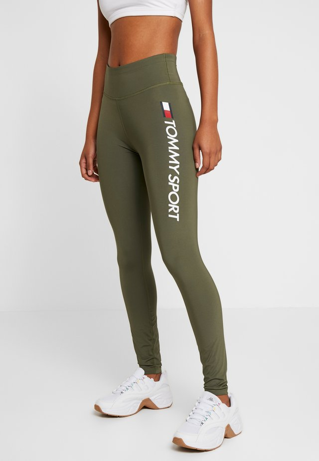 LEGGING HIGHWAIST LOGO - Tights - green