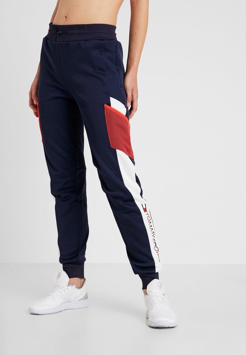 Tommy Sport - BLOCKED JOGGER CUFF - Pantalones deportivos - blue