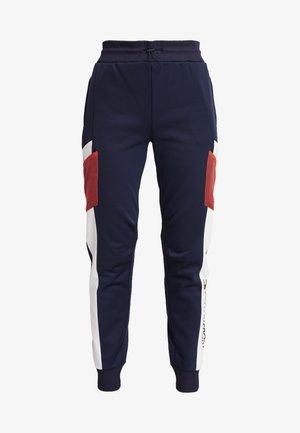 BLOCKED JOGGER CUFF - Pantalones deportivos - blue