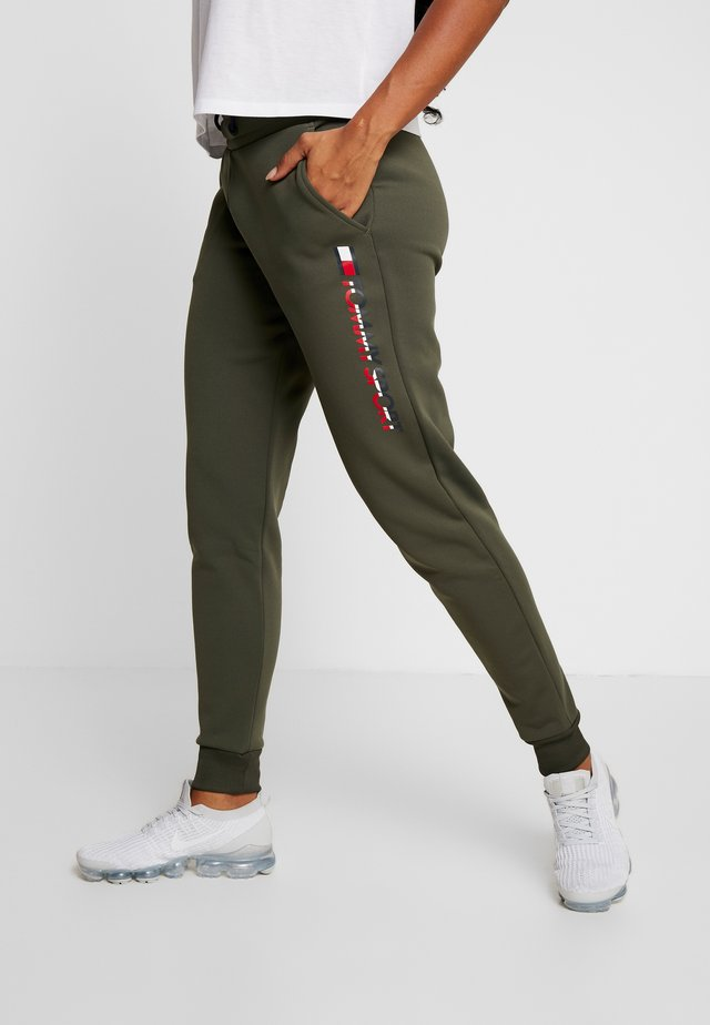 BIG LOGO - Tracksuit bottoms - green