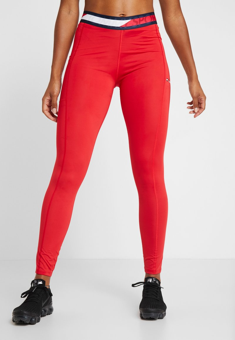 Tommy Sport - TAPE LEGGING - Tights - red
