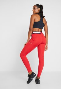 Tommy Sport - TAPE LEGGING - Tights - red - 2