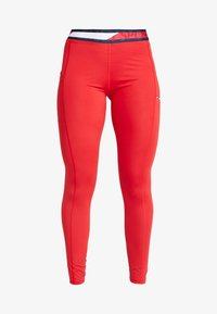 Tommy Sport - TAPE LEGGING - Tights - red - 5
