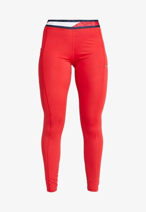 TAPE LEGGING - Legging - red