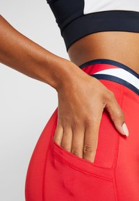 Tommy Sport - TAPE LEGGING - Tights - red - 4
