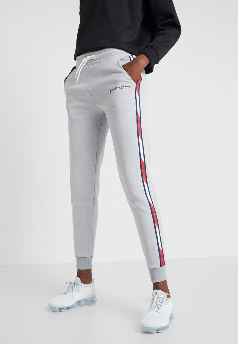 Tommy Sport - JOGGER WITH TAPE - Tracksuit bottoms - grey