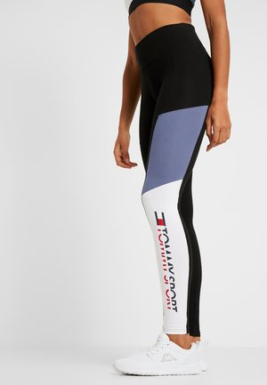 BLOCKED LOGO - Leggings - black