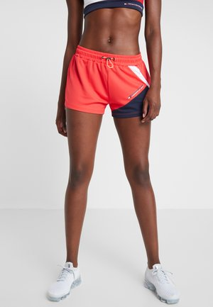 BLOCKED SHORT - Sports shorts - red