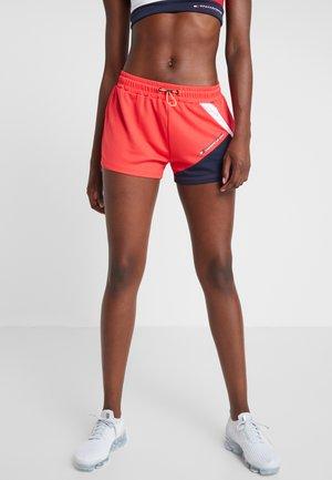 BLOCKED SHORT - Pantalón corto de deporte - red