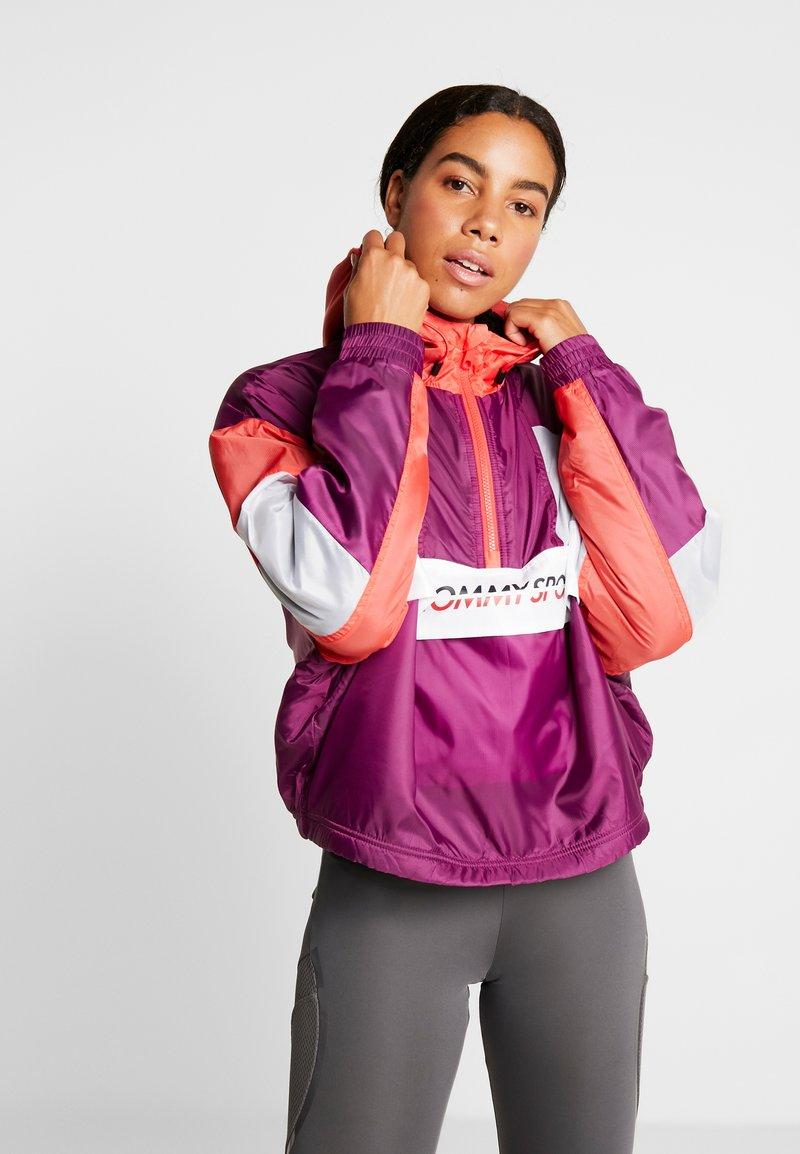 Tommy Sport - SHERPA LINED BLOCKED JACKET - Training jacket - purple