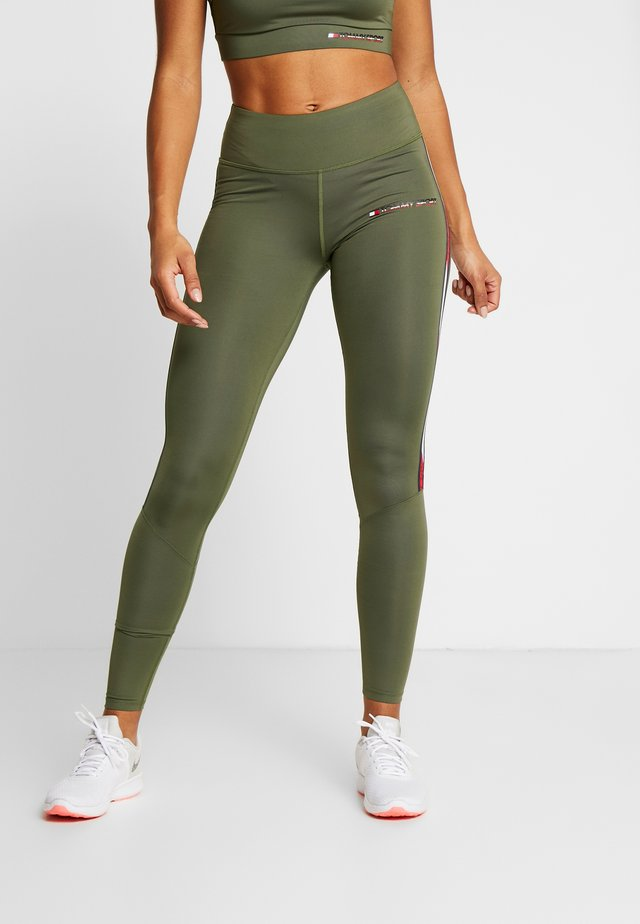 LEGGING FULL LENGTH WITH TAPE - Punčochy - green