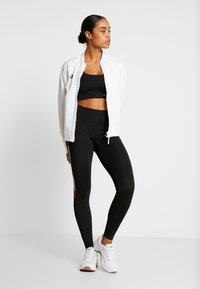 Tommy Sport - LEGGING FULL LENGTH WITH TAPE - Trikoot - black - 1