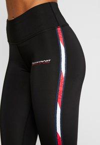 Tommy Sport - LEGGING FULL LENGTH WITH TAPE - Trikoot - black - 4