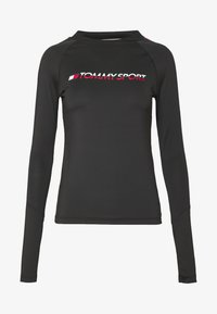 Tommy Sport - BASE LAYER WITH TAPE - Maglietta a manica lunga - black - 4