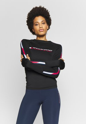 BASE LAYER WITH TAPE - Longsleeve - black
