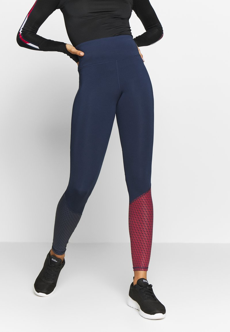 Tommy Sport - GLOW HIGHWAIST LEGGING - Legging - blue
