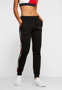 Tommy Sport - PANTS WITH FAST TAPE - Joggebukse - black - 0