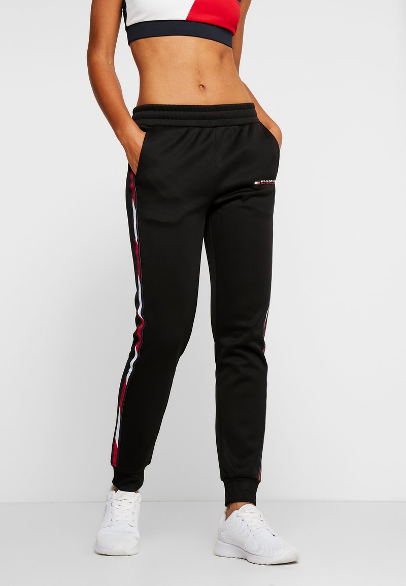 Tommy Sport - PANTS WITH FAST TAPE - Joggebukse - black