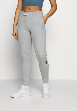 CUFF LOGO - Tracksuit bottoms - grey
