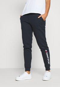 Tommy Sport - CUFF LOGO - Teplákové kalhoty - blue - 0