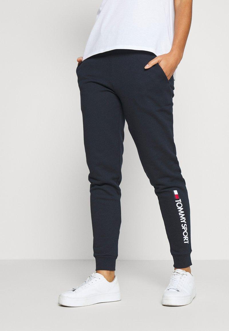 Tommy Sport - CUFF LOGO - Teplákové kalhoty - blue